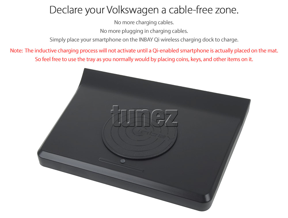 Inbay Qi Wireless Charger Dock Tray For Volkswagen Golf