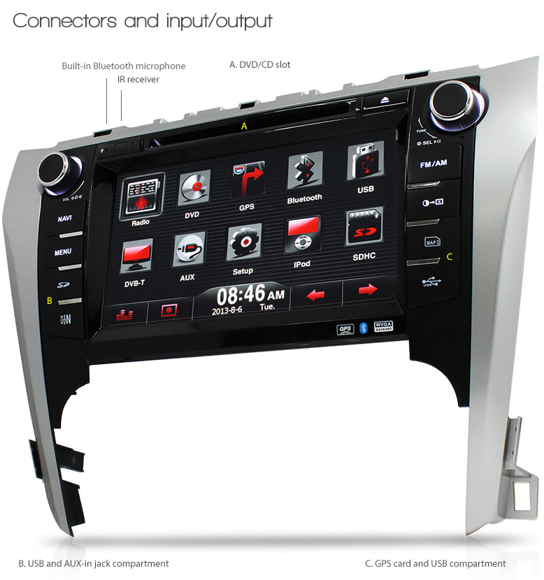 8 quot Toyota Aurion Car DVD GPS Player Stereo Radio Tunezup